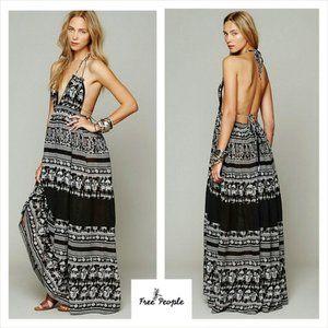 FP Black Printed Triangle Top Maxi Dress